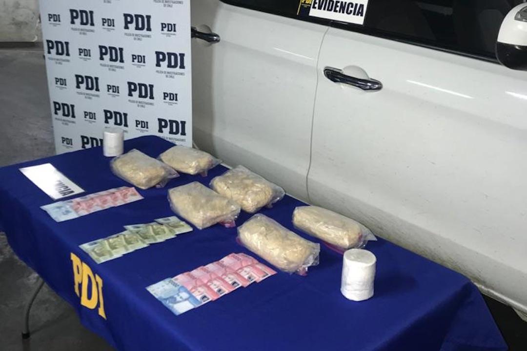 Los Ángeles: Brigada antinarcóticos captura a sujeto con 6 kilos de cocaína
