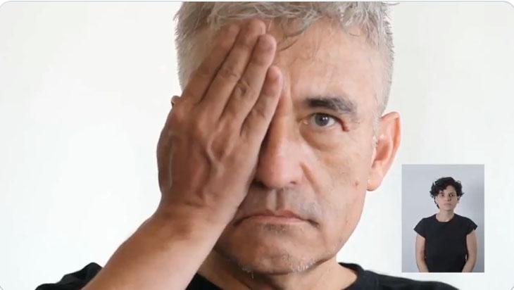 La sorpresiva aparición de Jorge González para apoyar la franja del 'Apruebo'