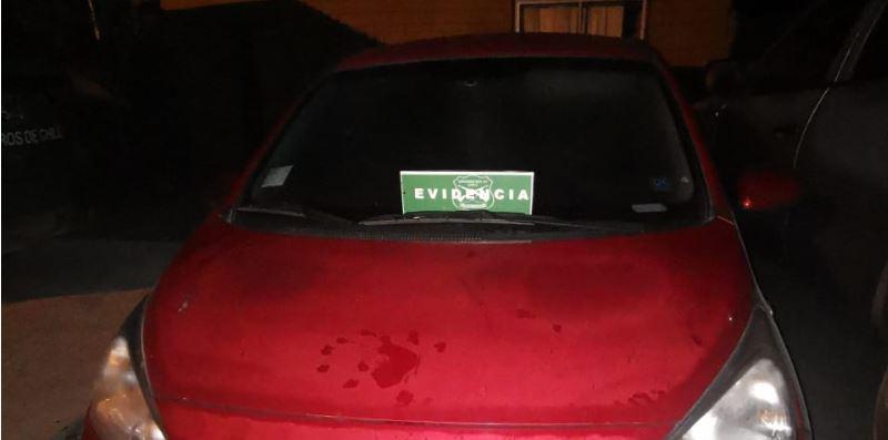 Carabineros de LA recuperó auto robado en una encerrona: 3 sujetos se dieron a la fuga