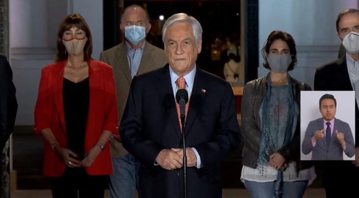 Presidente Piñera confirma victoria del 'Apruebo': Es un triunfo de todo los chilenos
