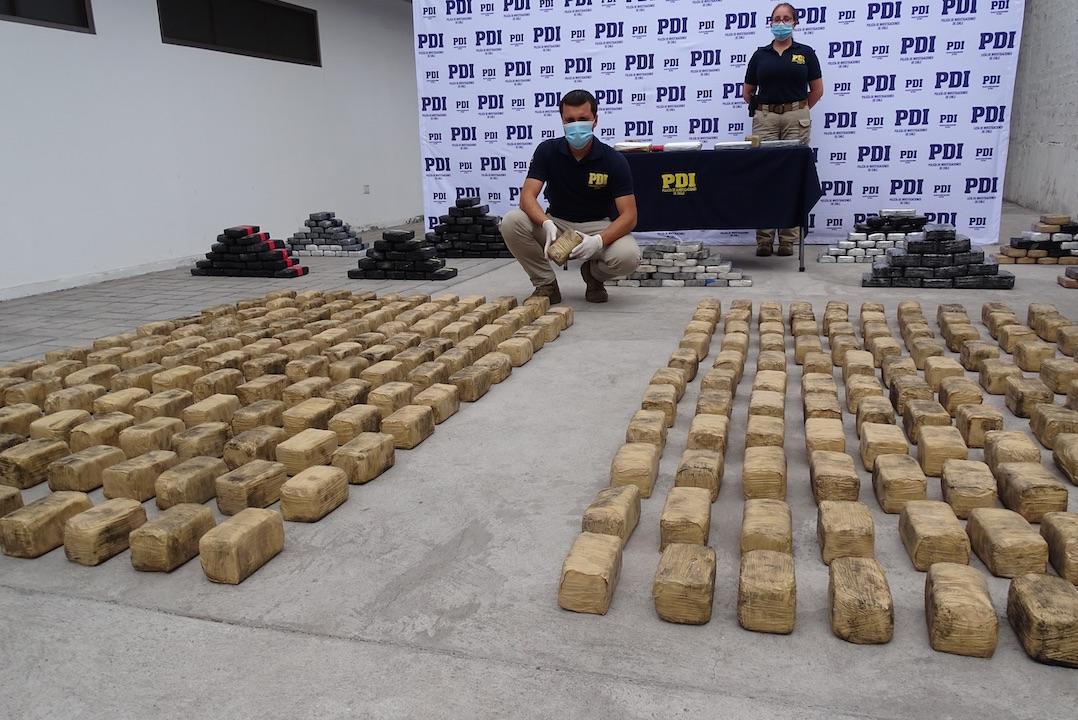 Iquique: PDI desarticula banda criminal e incauta más de 7 mil millones en droga