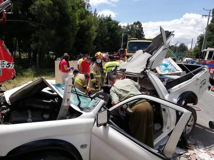 Los Ángeles: Tres heridos deja grave accidente camino a Nacimiento
