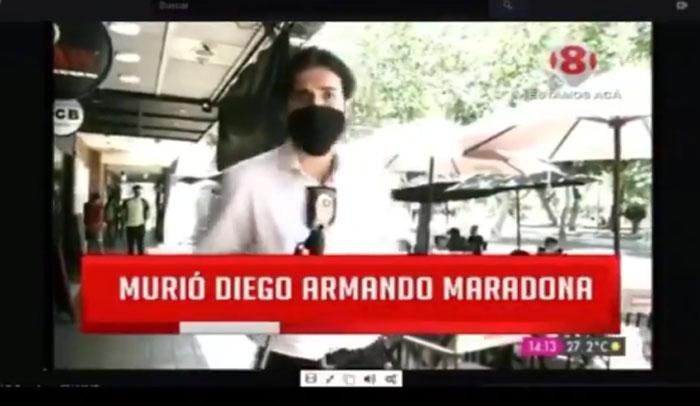 Periodista argentino vivió insólito despacho por muerte de Maradona: se volvió viral