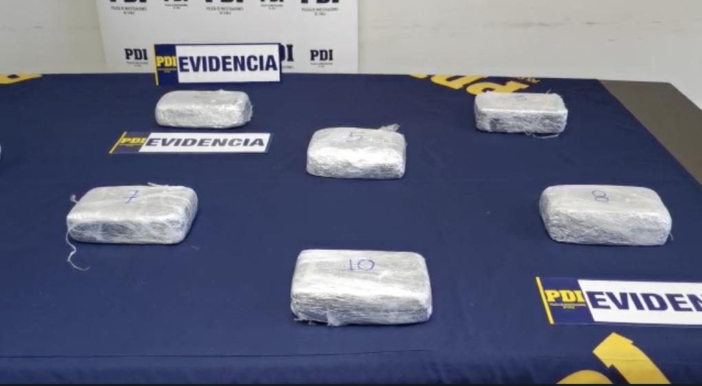 Biobío: PDI detiene a clan familiar con más de 10 kilos de cocaína