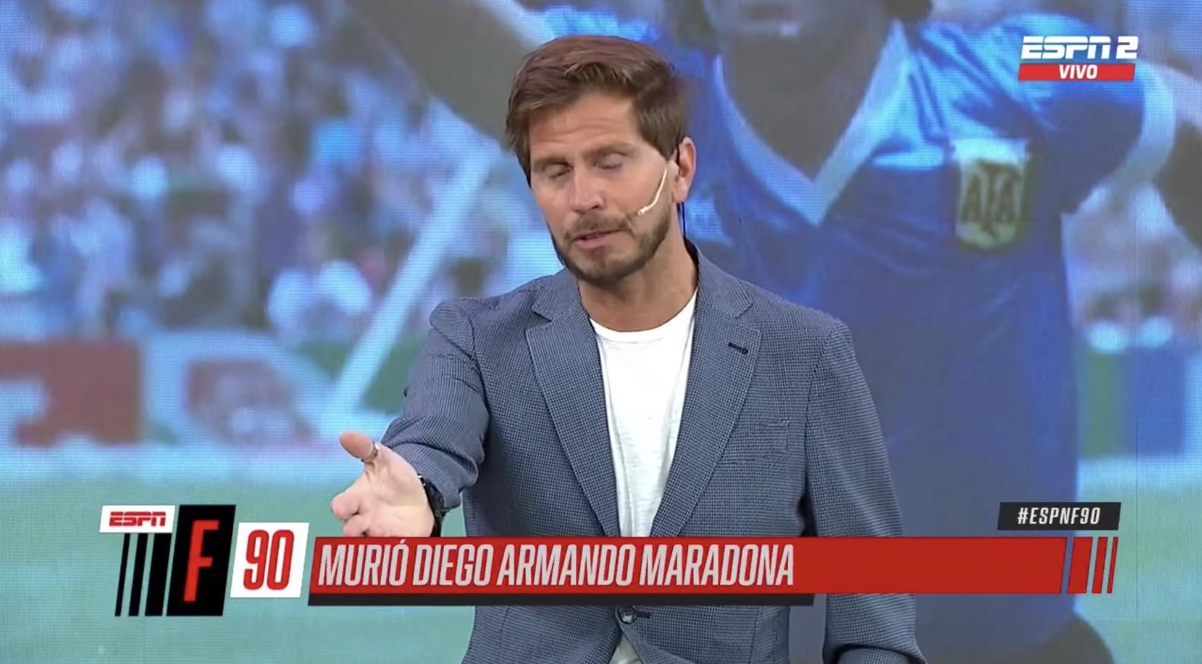 Así informó ESPN Argentina la muerte de Diego Armando Maradona