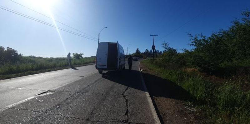 Mulchén: sujetos robaron camión de Chile Tabacos mediante una encerrona