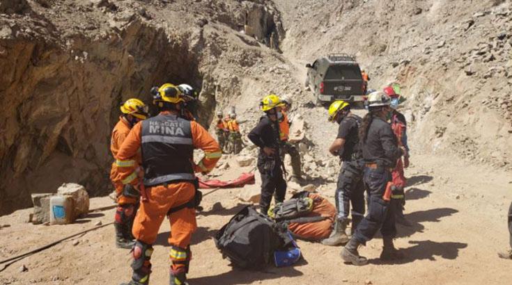 Dos mineros atrapados en el norte por derrumbe: ya se está trabajando en su rescate
