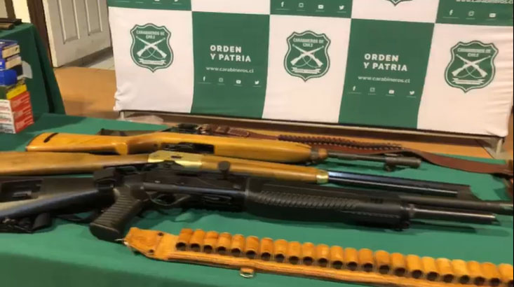 Operativo por Violencia Intrafamiliar logró descubrir a sujeto con un  arsenal de armas