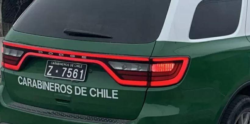Dos sujetos detenidos en Concepción: andaban en auto robado, con 'Tusy' y sin permisos
