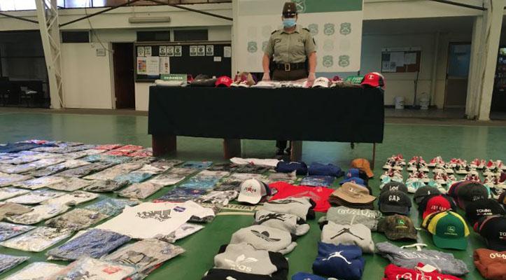 Millonario decomiso de ropa falsa en Concepción: 4 millones en especies fueron incautadas