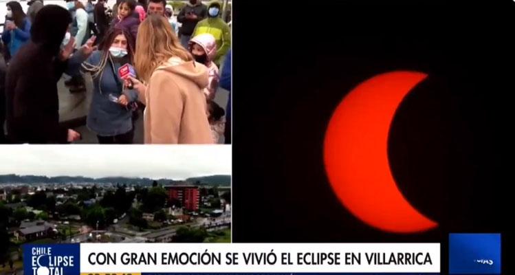 «Piñera chu….»: el momento que descolocó a CHV en plena transmisión del eclipse