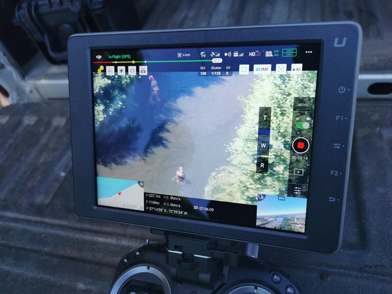 Con drones descubren a bañistas violando la cuarentena en Laja y Yumbel