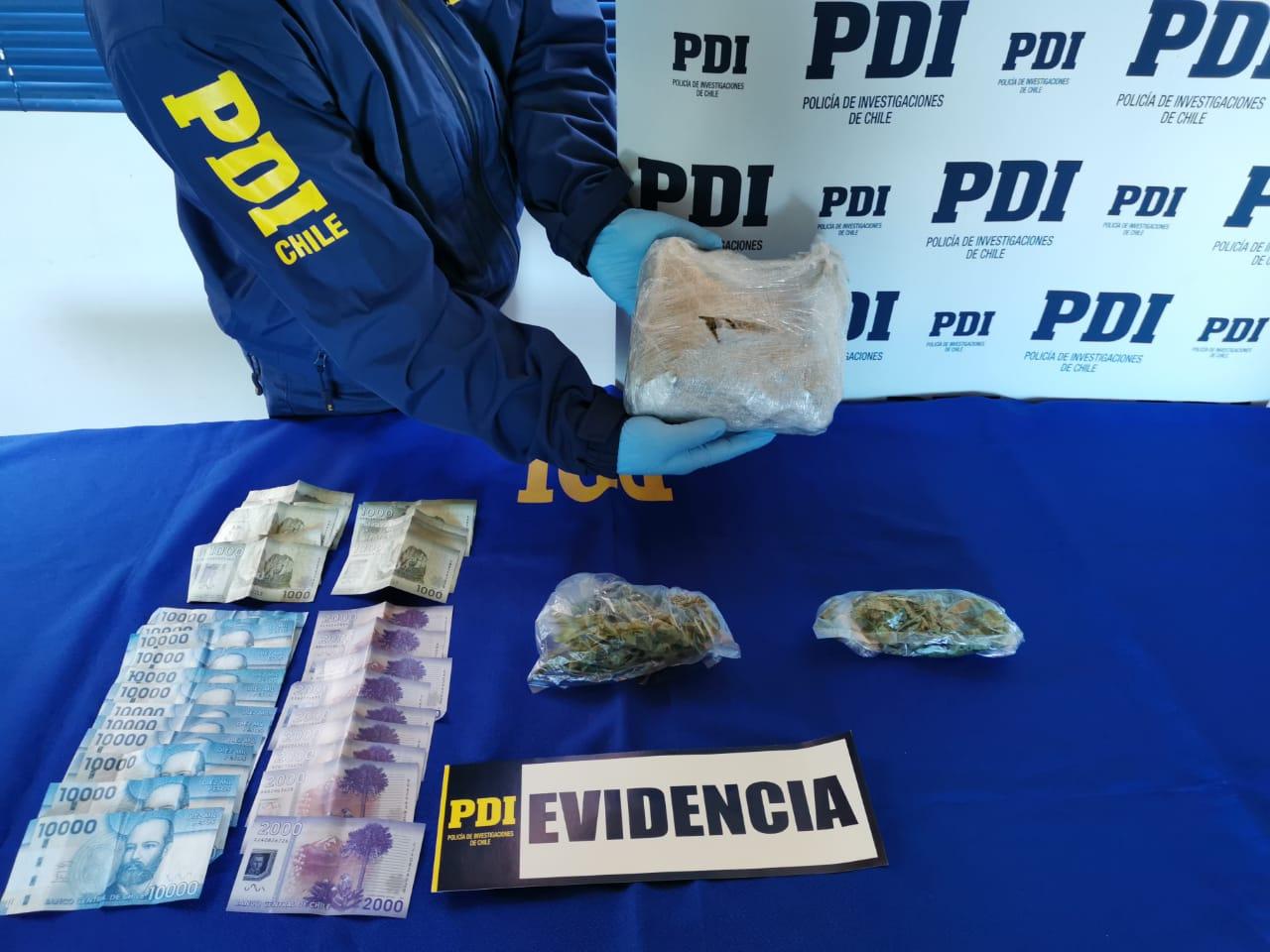 PDI detuvo a sujeto que traía encomienda de marihuana a Mulchén
