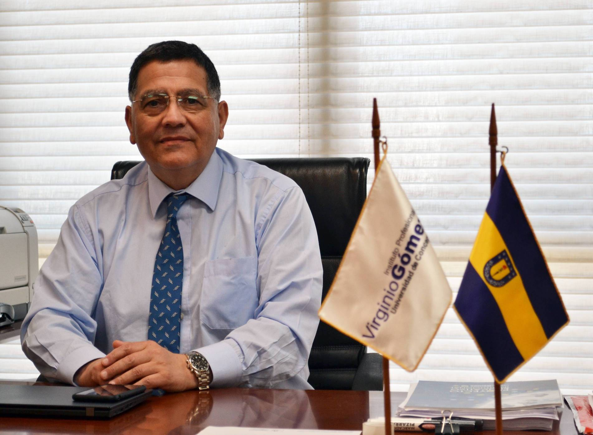 Dr. Rolando Hernández Mellado asume como rector del Instituto Profesional Virginio Gómez