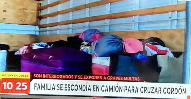 Escondidos en un camión: familia es sorprendida intentando llegar a Cartagena
