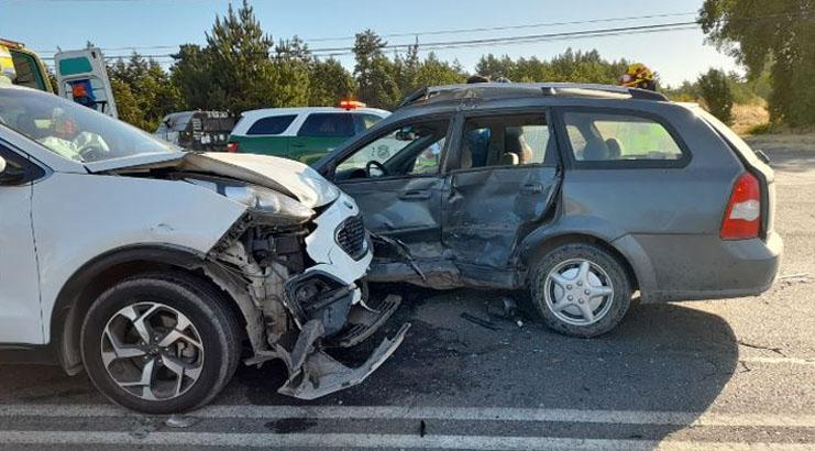 Los Ángeles: colisión frontal en el sector norte deja dos personas lesionadas