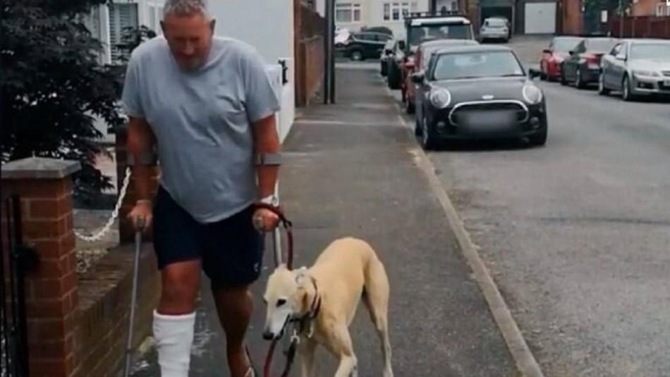 El perro lo imitaba: gastó 300 mil pesos en veterinario por falsa cojera