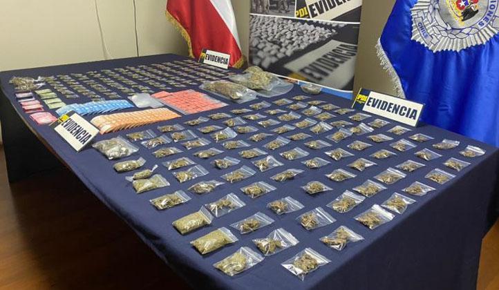 Detienen a pareja en Coronel: tenían cocaína, 'tusi' y billetes falsificados
