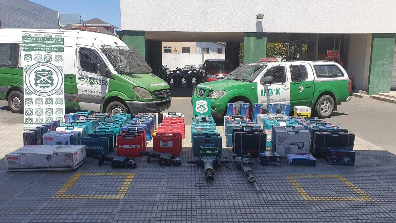 Lo encontraron por GPS: sujeto que robó camionetas y herramientas evaluadas en $40 millones fue detenido en Concepción