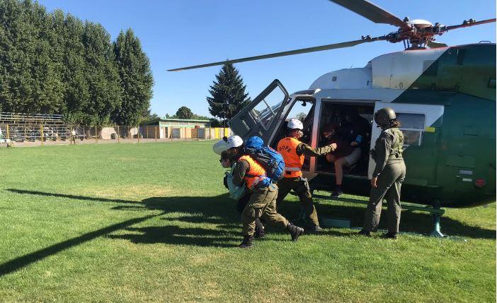 Tucapel: 8 personas fueron rescatadas tras extraviarse en el sector 'El Mañihual'