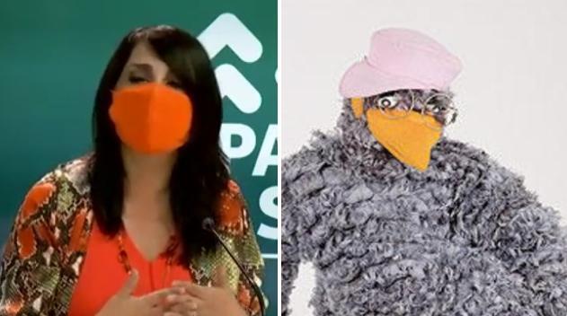 Los memes que dejó el outfit de Karla Rubilar en nuevo reporte