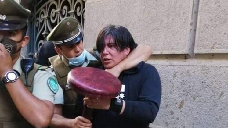 Miembro de 'La Vanguardia' es detenido por disparar balines a manifestantes