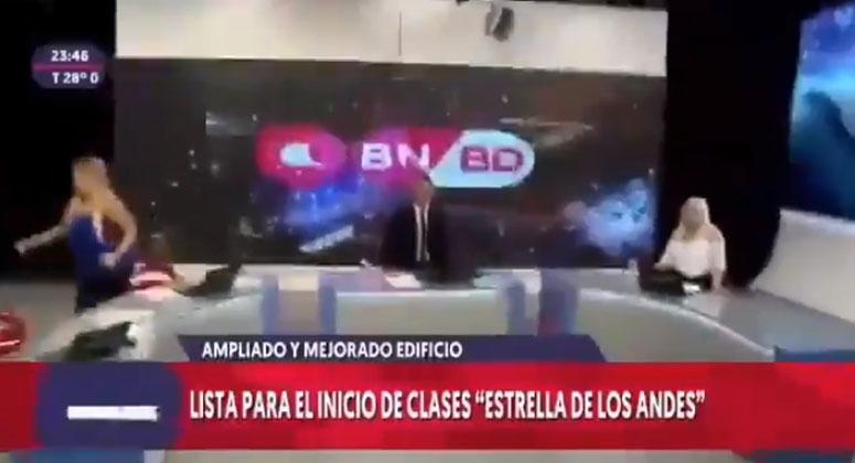 ¿Y si pasaba en Chile?: reacción en vivo de noticiero argentino por fuerte sismo se hizo viral