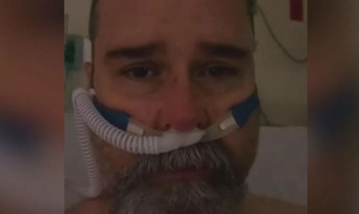 «Creí que era político»: hombre a punto de ser intubado ruega por el uso de mascarillas