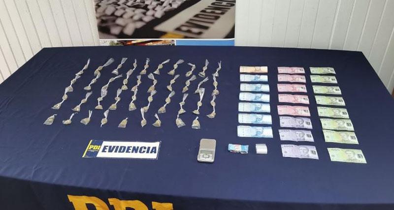 Cabrero: PDI detiene a un hombre con 70 dosis de marihuana para vender