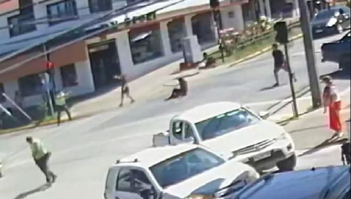 Panguipulli: video muestra actuar del carabinero imputado por muerte de malabarista