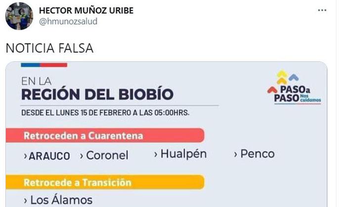 Es Falso: Seremi desmiente noticia que anuncia nuevos cambios de fase en el Biobío