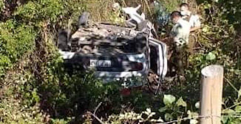Los Ángeles: Conductor pierde el control y vuelca en el Puente Huaqui